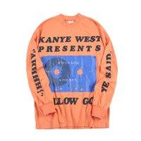 Nagri men's fashion Jesus is King Limited Long Sleeve T-Shirt around Kanye