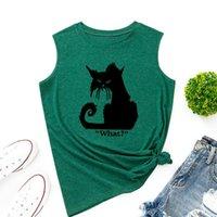 Women's Tanks & Camis What Black Cat Tank Tops Funny Women Vest Top Summer Shirt Sleeveless T-Shirts Casual Tee Shirts Clothe