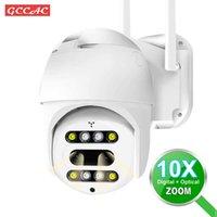 Binoculaire HD 1080P Caméra IP extérieure CCTV 360 PTZ 10X ZOOM WIFI Caméra Surveillance de la sécurité Surveillance de la surveillance de la caméra extérieure WIF FI FI FI CAM H0901