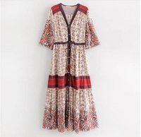 Dresses Casual Bohemian patchwork long single breasted cardigan dress