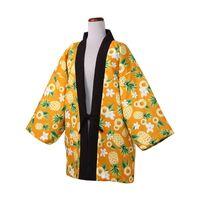 Юката зимняя японская густая теплое хлопковое мягкое пальто напечатана кимоно кардиган хантен нерешеный бордюр короткая хаори домашняя одежда этническая одежда