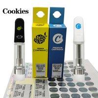 Китай Оптовые печенья Cookies Carts Carts Atomizer Новейшая упаковка розничная коробка толстого масла 0.8 мл 1.0 мл Premium Extract Vavorizer Pen Fea Fast Доставка