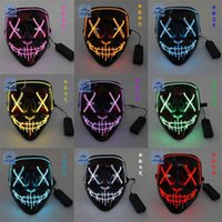 LED Christmas Children's Mask Halloween Party Luminous Costume Props Light Strip Masks Fashion Kids Boys Grils Decoration Supplies H1021SB1