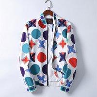 20ss 패션 디자이너 망 재킷 윈드 브레이커 긴 소매 남자 꽃 까마귀 의류 Zippe 위로 코트 플러스 아시아 크기 3-xxxl