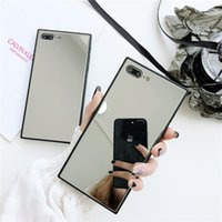 Luxury Square Mirror Protective Cases For iphone 12 MINI 11 Pro X XS MAX XR 8 7 Plus Cell Phone Case Back Cover Factory