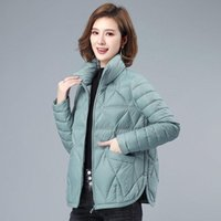 Down Padded Jacket Women's Light And Thin Short Fashion Casual Winter Coat Women Loose Korean Thick Jackets