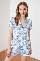 Trendyol Toile de Jouy محبوك منامة مجموعة THMSS21PT0348 للرجال ملابس خاصة