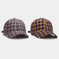 Top selling Hats Adjustable cap summer student fashion plaid baseball caps Contracted and leisure peak-cap Unisex sun hat