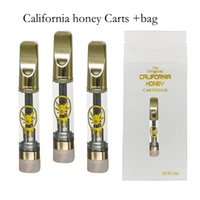 0.8ml Carts California Honey Vape Cartridges GoldenThick Oil Atomizers Vapes Cart Copper Mouthpiece Ceramic Coli E Cigarettes 1ml 510 Thread Cartridge