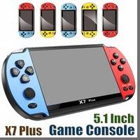 8GB X7 زائد اللاعبين لعبة المحمولة 5.1 بوصة psp شاشة المحمولة gba nes ألعاب console mp4 مشغل مع الكاميرا التلفزيون خارج tf الفيديو