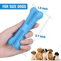 Hundezahnbürste spielzeug putzen stick haustier molar zahnbürste für hund welpenzahn gesundheitspflege zähne putzen kau spielzeug pinsel dwd6579
