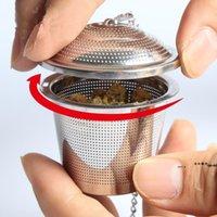 Bolsa de tempero Infusor de chá 304 cesta de aço inoxidável com tampão quente panela cozinhar sopa guisado bule de malha filtro fwe10242