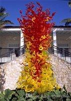 زهرة شجرة فندق foyer الملونة الكلمة مصابيح مورانو المنفأة الزجاج النحت في حديقة الفن الديكور