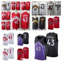 Şehir Tasarımı Mens Jersey Toronto # 132; Raptors # 132; 23 Fred Vanvleet Kawhi # 132; Leonard 7 Kyle # 132; Lowry 43 Pascal Siakam Black Edition Basketbol Formaları