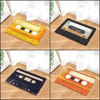 Door mat Flannel Plush Vintage Cassette Tape Indoor Doormat Non Slip Door Floor Mats Carpet Rugs Decor Porch Doormat Tapete EWE5974