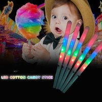 Party Favor LED Cotton Candy Stick Cones Colorful LED Light Sticks Flash Glow For Vocal Concerts Night Party T2I52795