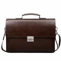 Business Man Bag Diebstahlsicherer Schloss PU-Leder Aktentasche für Mann Reine Bank Mens Aktentasche Tasche Kleid Handtasche M2NI #