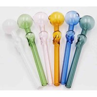Glass Skull Smoking Pipe Thick Pyrex Oil Burner Pipes Colorful Hand Spoon Pipe For Tobacco Dry Herb Burning
