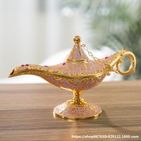 Fairy Tale Aladdin Magic Lamp Vintage Censer Creative Metal Aroma Burner Multi Color Incense Burners Arrive 35*12*18.5cm