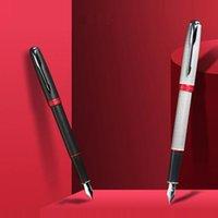 Jinhao Pen 75 Red Rhyme Series Enrejado Plata Fregadero Extremo Negro Red Rhyme Negro Escribir Blama de Hombres Caligrafía Caja de Regalo