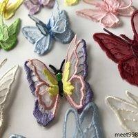 Notions de couture de vêtement Applique Double couche Organza Papillon Motif plusieurs couleurs pour correspondre à la décoration de vêtements Indépendamment Outil