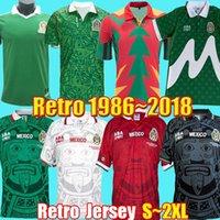 Retro México Futebol Jerseys 1986 1994 1995 1998 2018 Blanco Campos Hernandez Goleiro Vintage Cisa Camisas Camiseta de Futbol