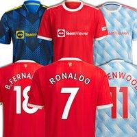 Cristiano 7 Ronaldo Manchesters United Soccer Jerseys Martial Lingard B.fernandes Third Shirt Football Lindelof Wan-Bissaka Cavani Uomo Donne Camiseta de Futebol