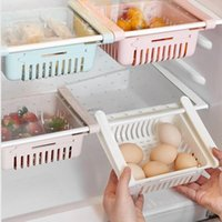 Storage Bottles & Jars Kitchen Retractable Fridge Organizer Slide Refrigerator Drawer Box Rack Holder Freezer Shelf Pull-out Space Saver CD