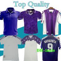 1998 1999 الرجعية فيورنتينا لكرة القدم الفانيلة Batistuta Rui Costa Home Football Shirt 2000 Camisas de Futbol 89 90 91 92 93 94 95 96