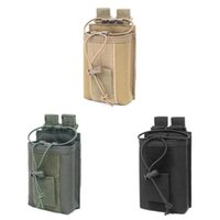 Outdoor Bags Radio Pouch Case 1000D Nylon Waist Belt Bag Walkie Talkie Holder Potable Climping For Family Camping Accessories
