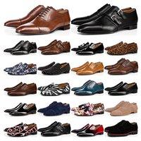 2019 designer herren rote böden schuhe Flache Echtleder Oxford Schuhe Business Herren damen Walking Hochzeit größe 38-47 mit box