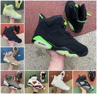 2022 Jumpman Electric Green 6 6s Mens High Basketball Shoes Gold Hoops Flint Carmine Black Infrared Travis British Khaki Tinker Oregon Ducks UNC Trainer Sneakers