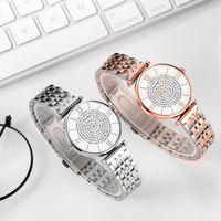 Orologio da polso Braccialetto di cristallo di lusso orologi Top Brand Fashion Diamond Ladies Orologio al quarzo in acciaio Femmina orologio da polso Montre Femme Relogi