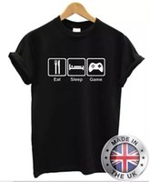 Comer Dormir-Spiel Camiseta Hombre Mujer S-XXL PZA Xbox Huesos Cuzados PSOne