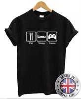 Comer Dormir jeu Camiseta Hombre Mujer S-XXL Pza Xbox Huesos Cuzados Psone