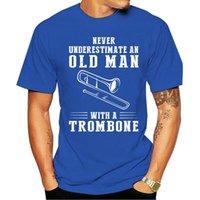 Men's T-Shirts Men T Shirt NEVER UNDERESTIMATE An OLD MAN TROMBONE Women T-shirt Cartoon Casual Short O-neck Broadcloth Cn(origin)