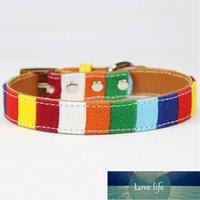 Nuevo producto para mascotas acolchado Big Dog Collar Personalizado Canvasleather Puppy Cat Necklace para Pequeño Pequeño Perro Grande Chihuahua Collar