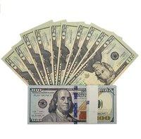 Kağıt Baskılı Para Oyuncaklar ABD 20 50 100 Dolar ve Euro Film Prop Banknote Çocuklar için Noel Hediyeleri veya Video Film