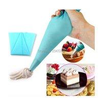 Cake Tools 1 Piece Reusable Silicone Icing Piping Cream Pastry Bag Dessert Decorators Cupcake Decorating