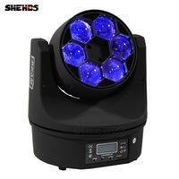SHEHDS Moving Head Lights LED Bienenauge 6x15w RGBW Ultimate Drehen Strahleneffektstufe EUIQPment 90W Hochleistungslampe