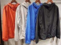 2021BRAND Hombre Primavera y otoño Moda casual Chaquetas delgadas Transpirables Deportes Cortavientos Impermeable Abrigo Aprieto Abrigo Tamaño M-3XL