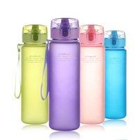 Botellas de agua Alta capacidad 400 ml 560 Deportes al aire libre Creativo Plastic Plastic Specal Scrub Venta de botella