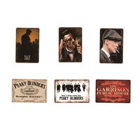 Peaky Blinder Metal Sign Poster retro metal tin sign Cinema Cafe Bar Club Garage Garden Vintage Wall Decor Movie Star GWB6144