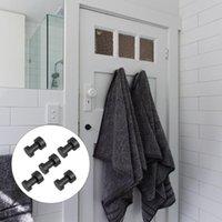 Hangers & Racks 5pcs Bathroom Towel Hooks Heavy Duty Wall Strong Adhesive Clothes