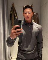 Muscle Brothers Спорт Фитнес Корея Повседневная Мужская Футболка Polo Slim Fit Рукает