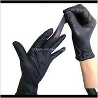 Очистка нитрилового черного одноразового дополнительного больших защитных порошковых продуктов питания защитные перчатки для татуировки Быстрый 5QN1R KRVB9