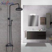 Senlesen Black Shower Faucet 2-ways Brass Head Hand Cold And Water Mixer Tap Para Bathroom Sets