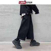 Lappster hommes Coréen Fashions Harem Pantalons Harem Joggers Joggers Hommes Black Black Pantalon de survêtement en vrac Japan Style Pantalon droit Pantalons 201217