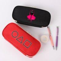 Squid Game Pencil Case Cross Border Peripheral Canvas Stationery Sack Zero Wallet Zipper Storage Pen Bag