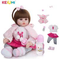 KEIUMI Soft Cotton Body Realistic Baby Dolls Fashion Princess Girl Doll Baby Reborn Toys Cosplay Rabbit Toddler Birthday Gifts Q0910